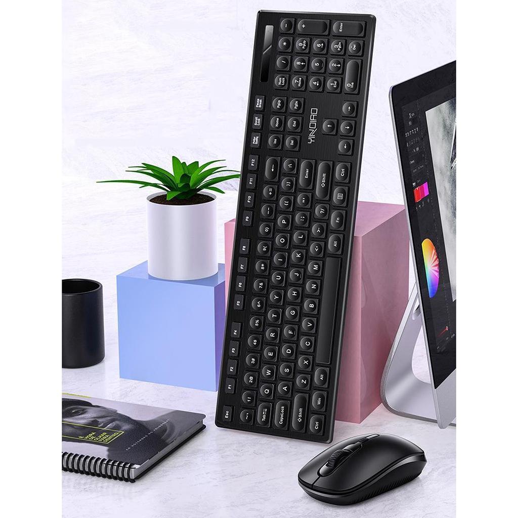 miniature 10 - Ensemble de souris clavier pleine grandeur avec récepteur USB pour ordinateur