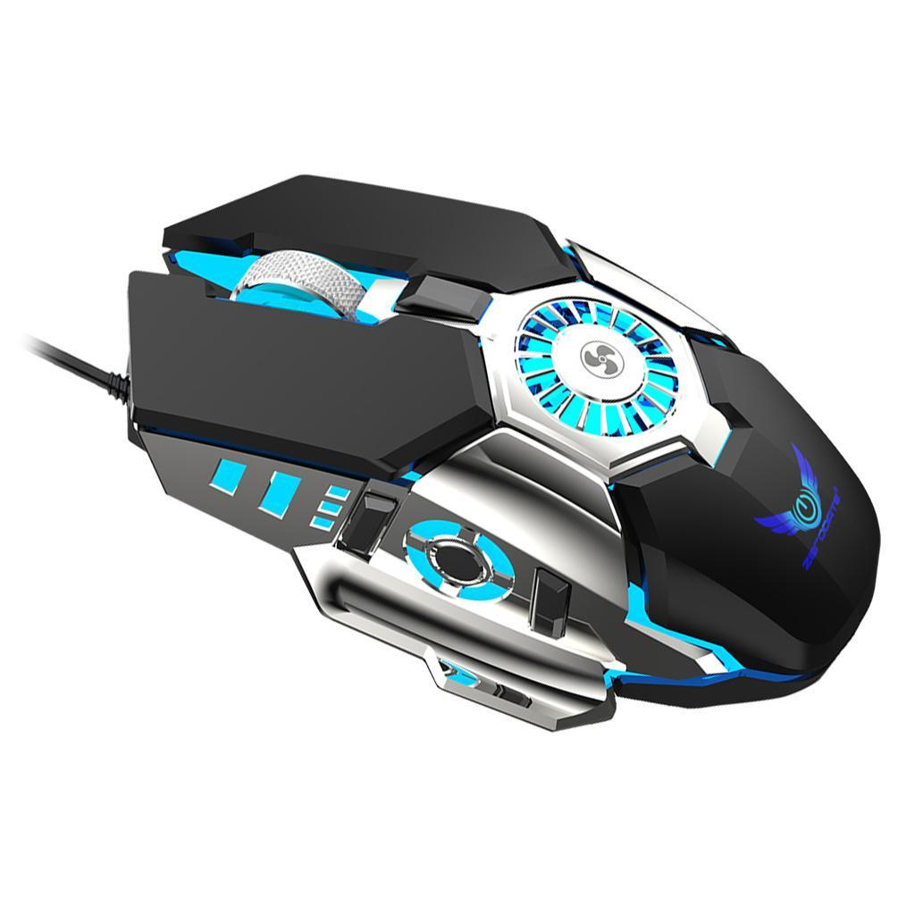 thumbnail 3 - USB-Wired-RGB-Gaming-Mouse-with-Cooling-Fan-for-Better-Game-Experience-6400DPI
