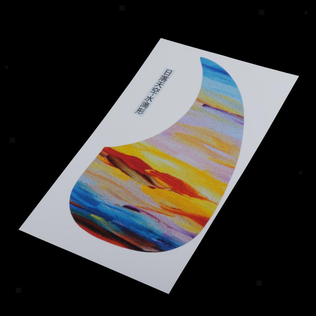 Plastic-Acoustic-Folk-Pick-Guard-Adhesive-Decal-Stickers-Parts-DIY-Accessory miniature 50