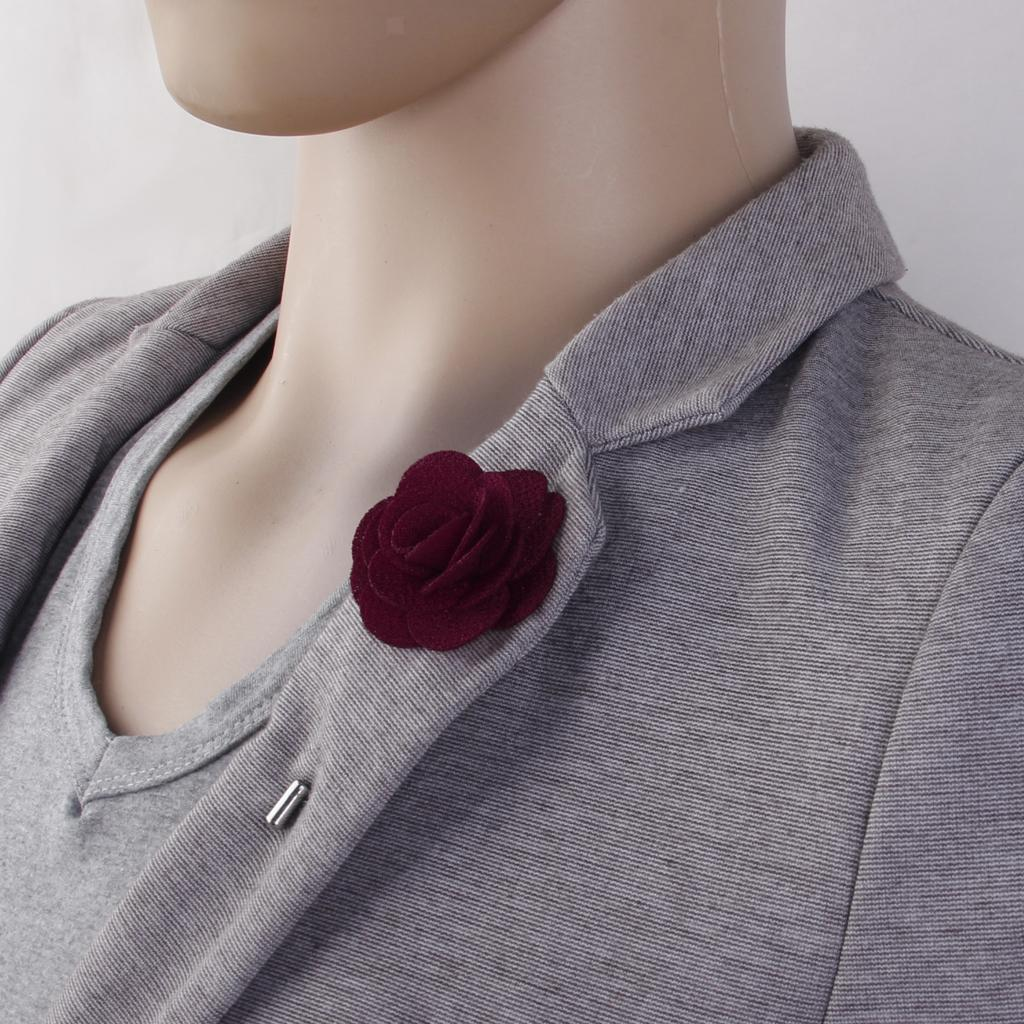 Romantic-China-Rose-Lapel-Men-Brooch-Boutonniere-Tuxedo-Tie-Pin-Wedding-Engage thumbnail 26