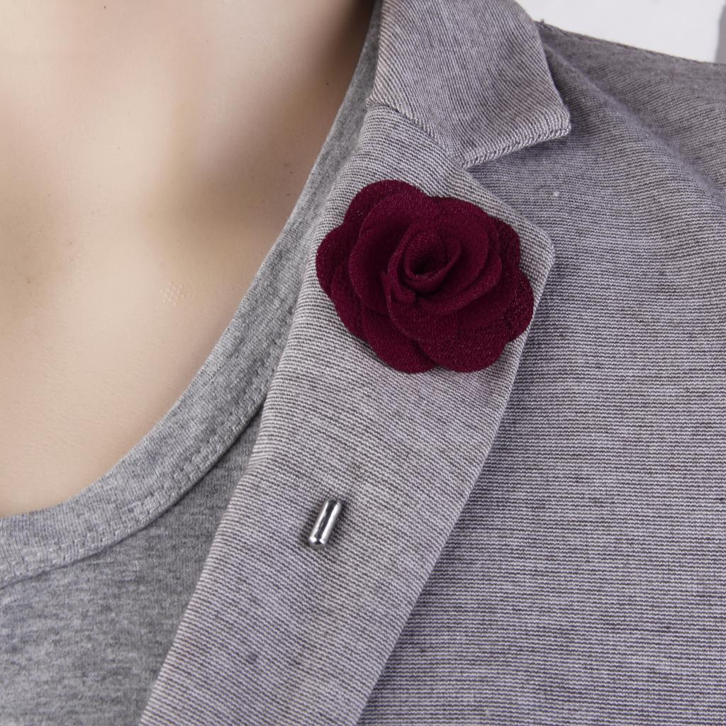 Romantic-China-Rose-Lapel-Men-Brooch-Boutonniere-Tuxedo-Tie-Pin-Wedding-Engage thumbnail 24