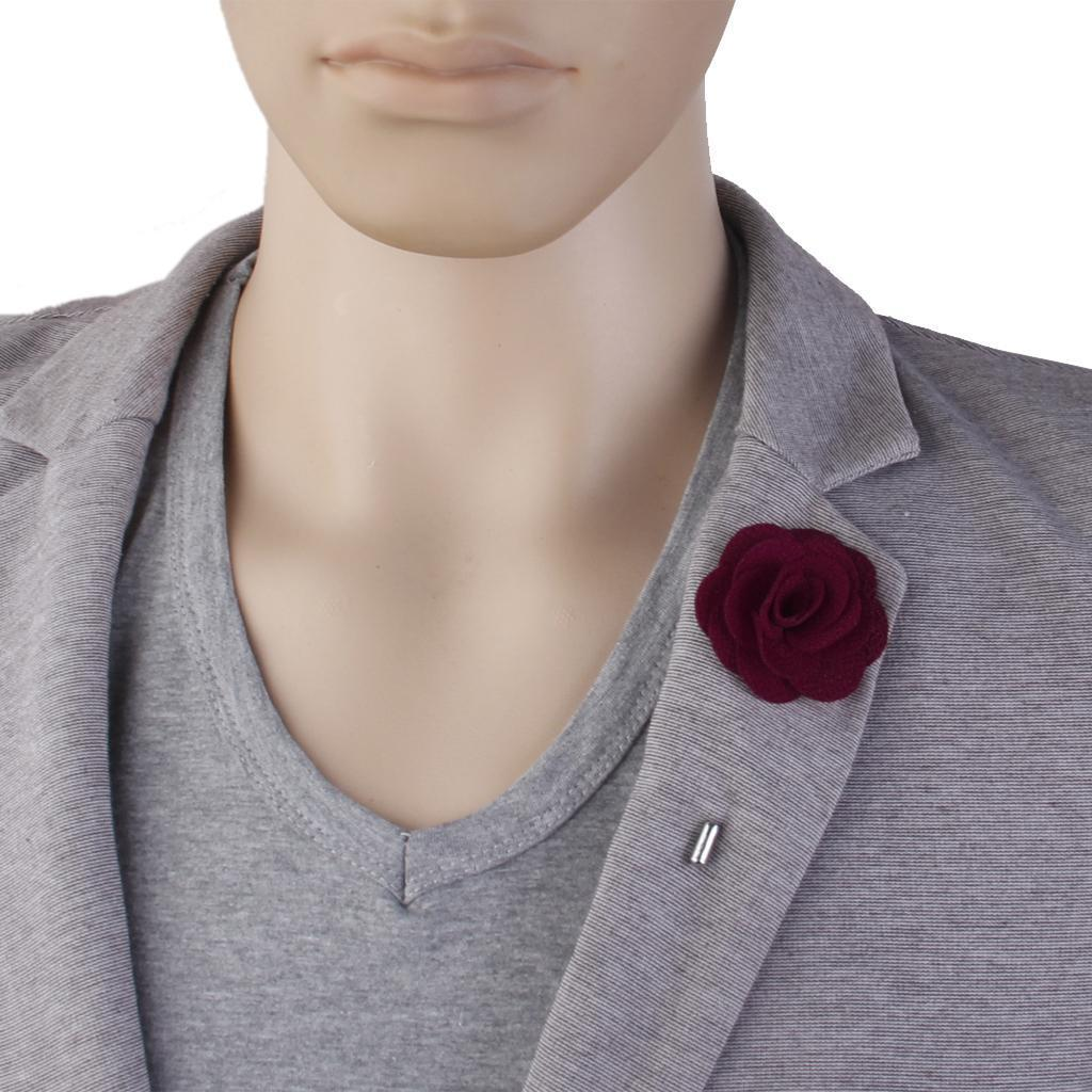 Romantic-China-Rose-Lapel-Men-Brooch-Boutonniere-Tuxedo-Tie-Pin-Wedding-Engage thumbnail 25