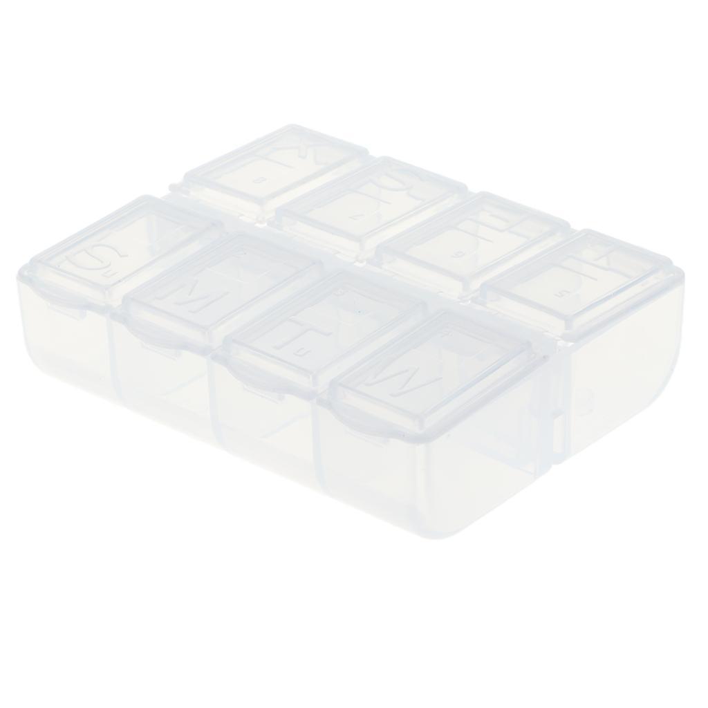 Mini retención plástico maleta 8 celdas DIY prácticamente para tornillos