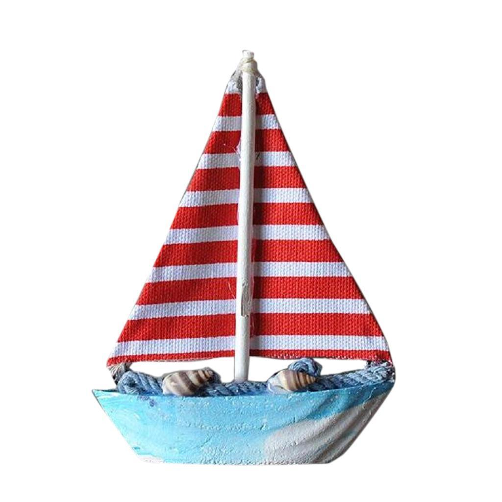 Wooden-Sailing-Boat-Ship-Ornament-f-Office-Cafe-Pub-Tabletop-Decoration thumbnail 6