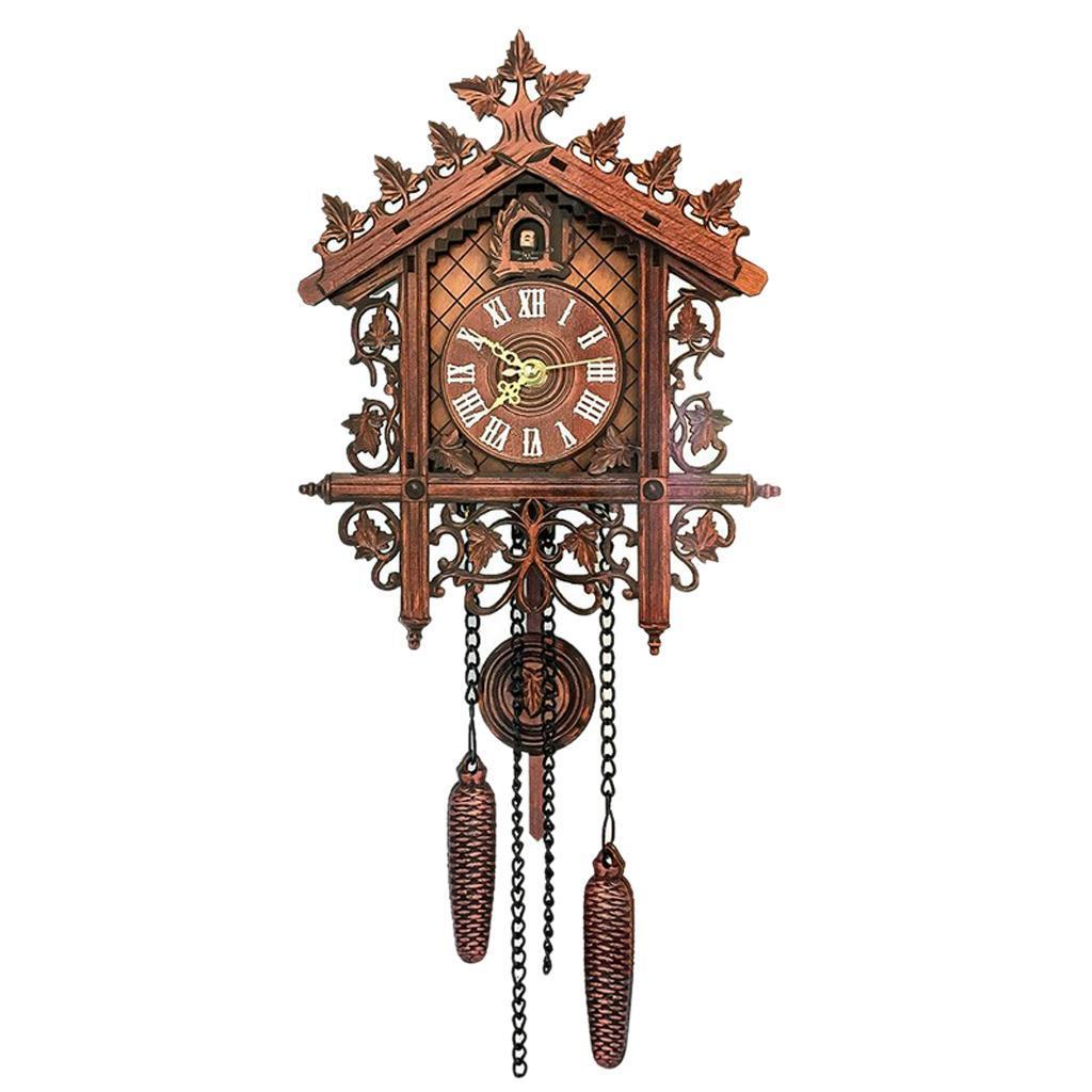 7'' Antique Traditional Handcrafted Wooden Cuckoo Wall Clock with Pendulum Gifts 5