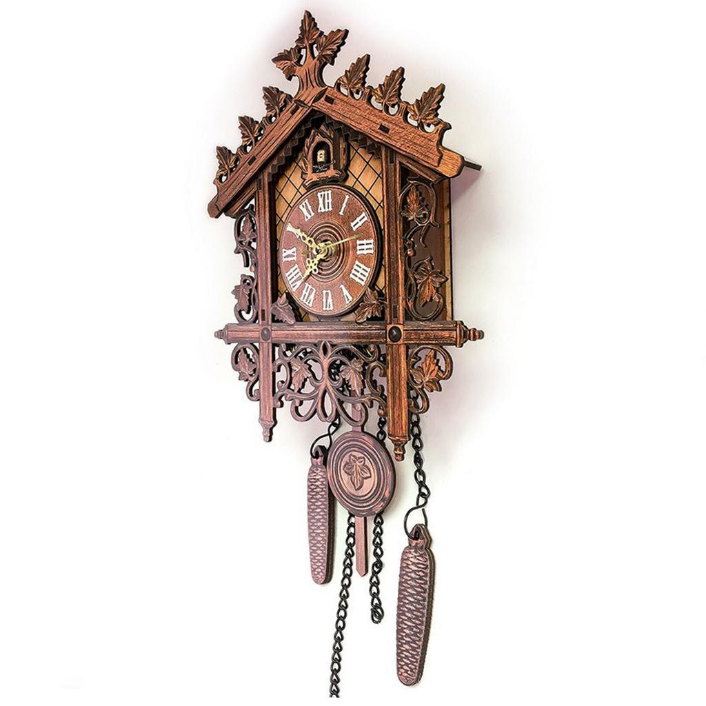 7'' Antique Traditional Handcrafted Wooden Cuckoo Wall Clock with Pendulum Gifts 2
