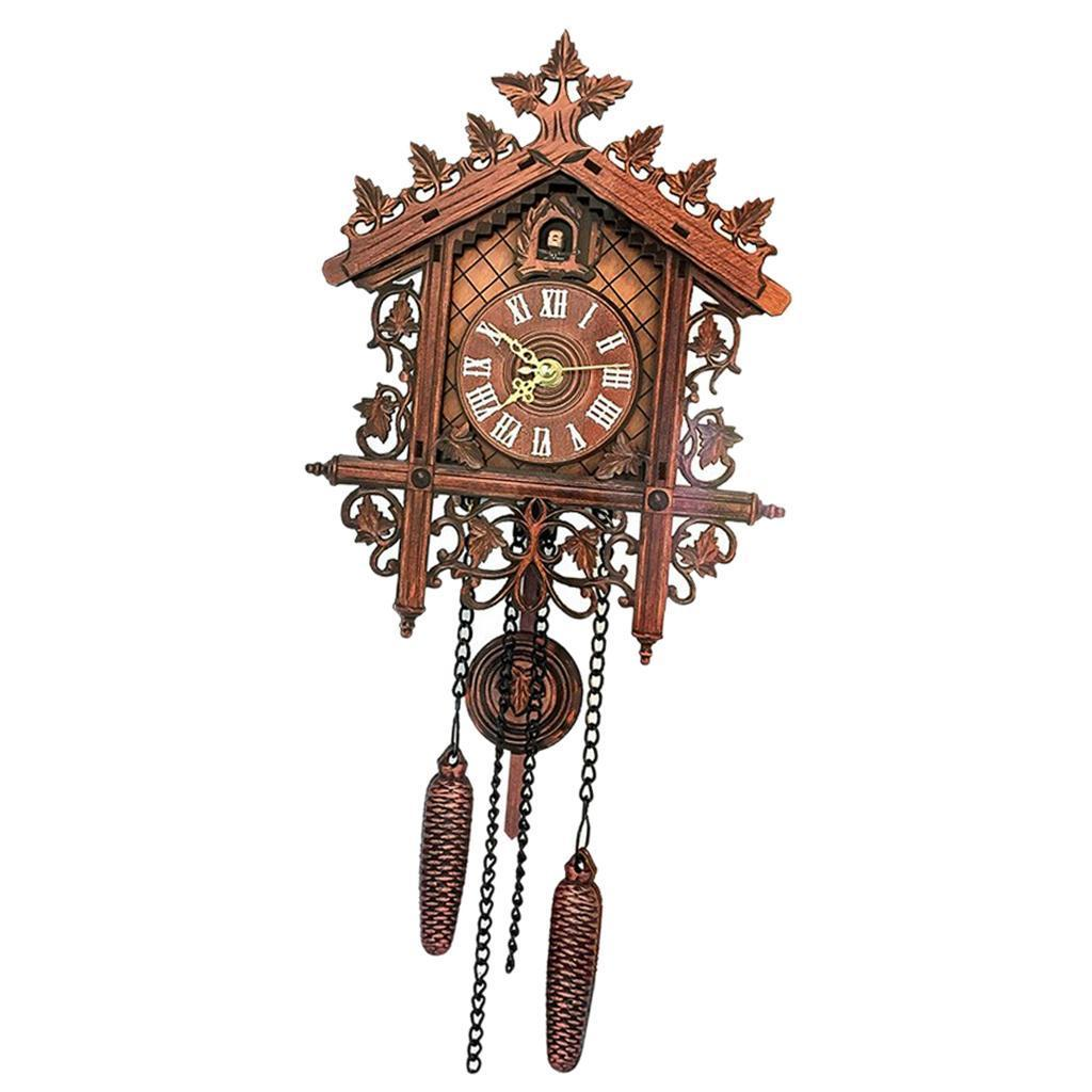 7'' Antique Traditional Handcrafted Wooden Cuckoo Wall Clock with Pendulum Gifts 3