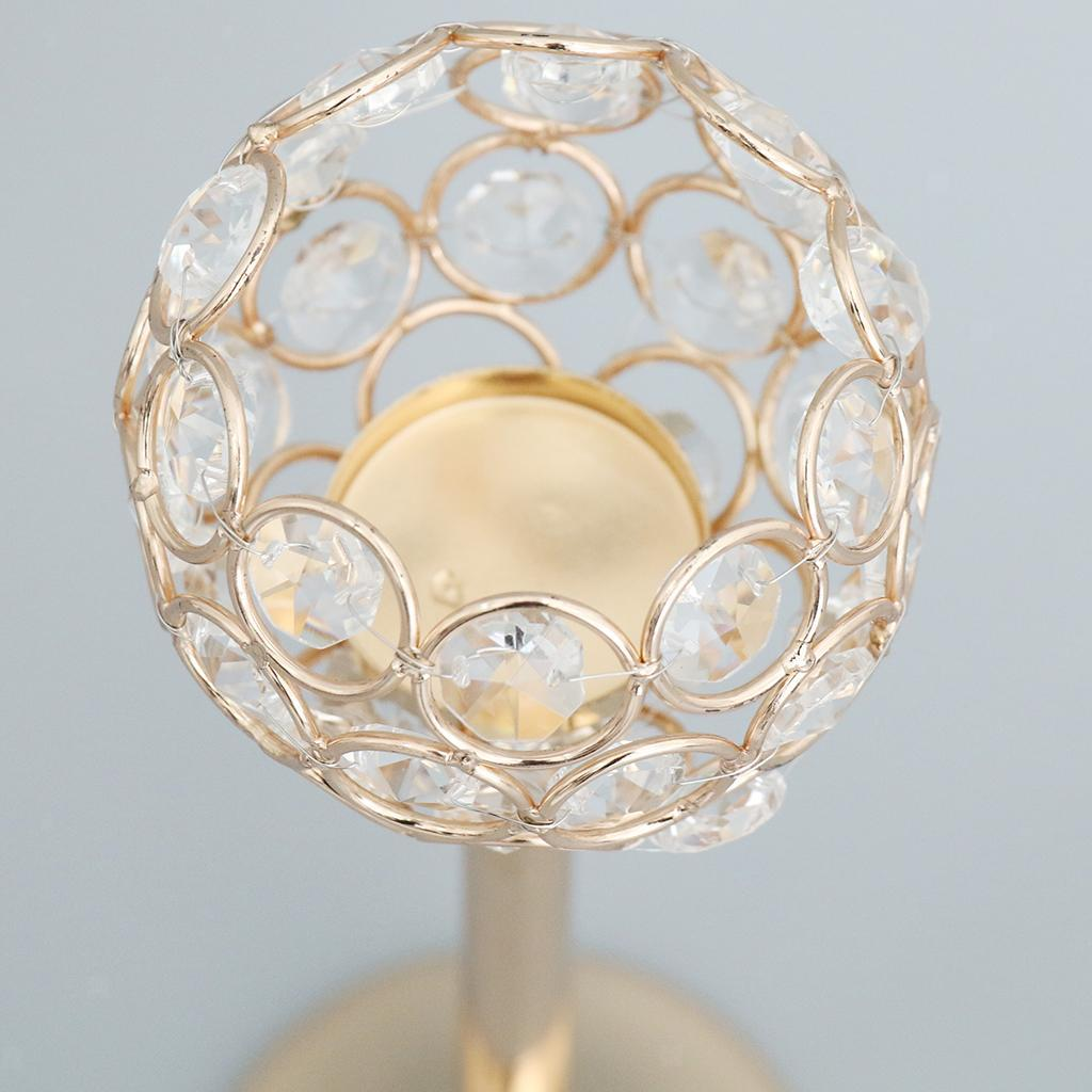 CRYSTAL-TABLE-STAND-CANDLE-HOLDER-CANDLESTICK-WEDDING-HOLIDAYS-CHRISTMAS-EVENTS thumbnail 65