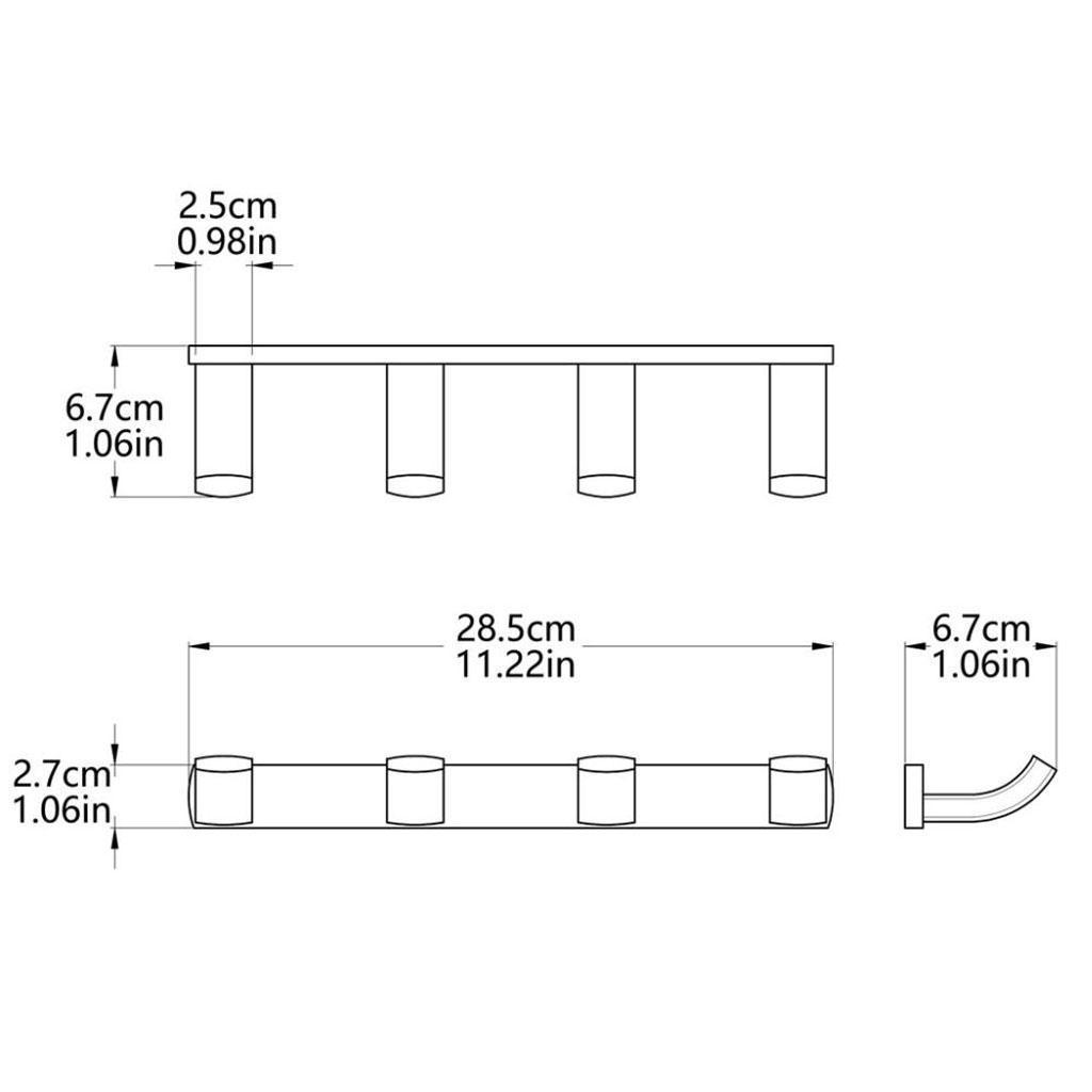 Hakenleiste-Wandhaken-Mehrzweckhaken-Garderobenhaken-Platzsparende Indexbild 6