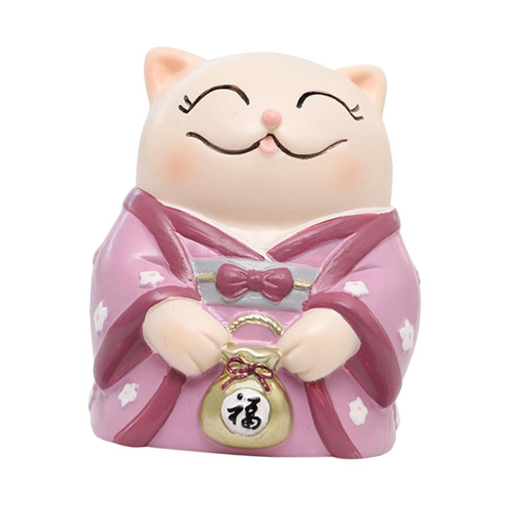 Chinese Fengshui  Lucky Cat Maneki Neko Figurine