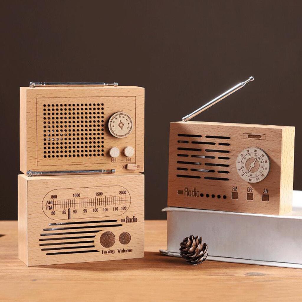 Retro-Clockwork-Music-Box-Radio-Music-Box-Shelf-Musical-Ornaments-Boys-Gift thumbnail 3