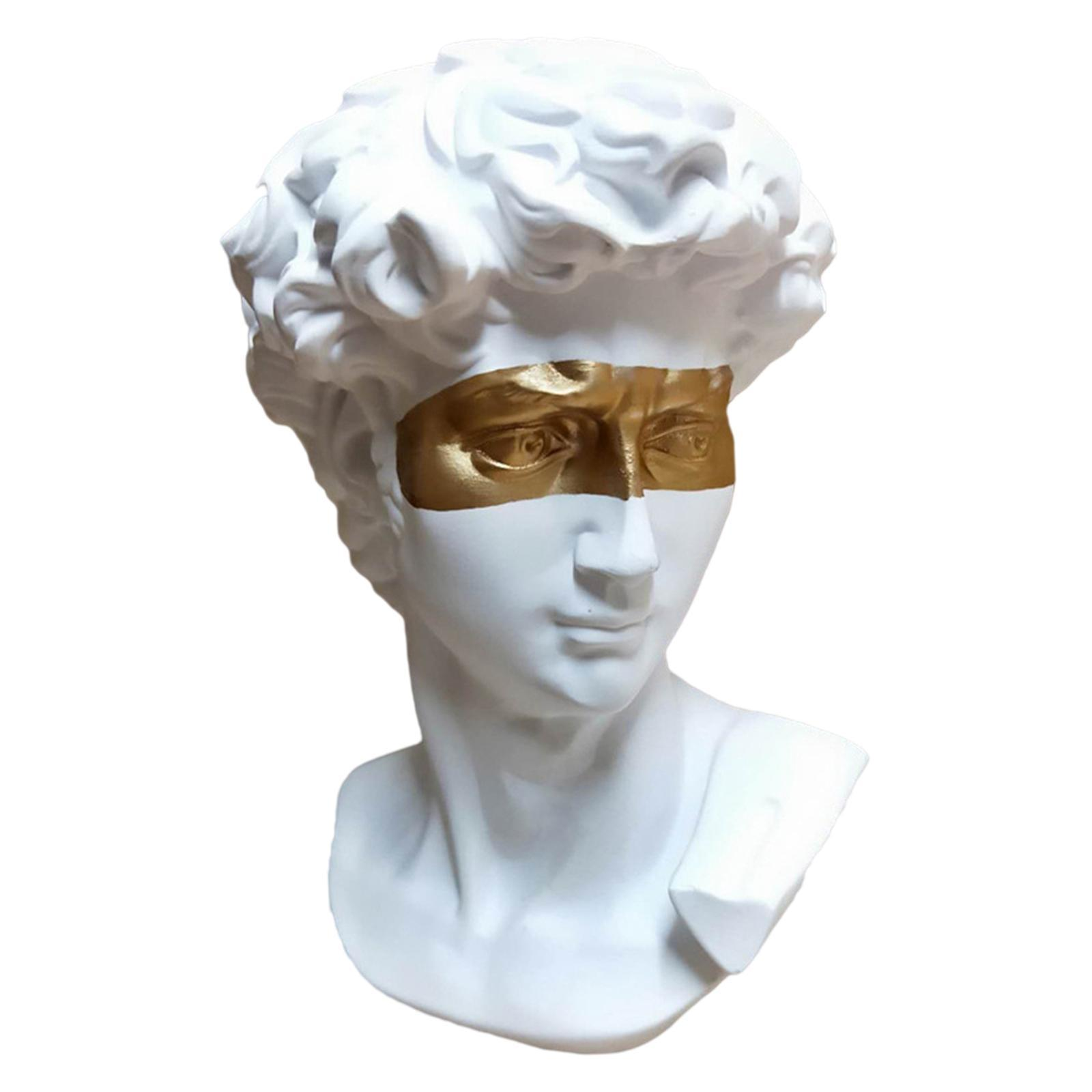 6 Classic Greek David Head Resin Sculptures Statues Home Decor Office Decor Ebay
