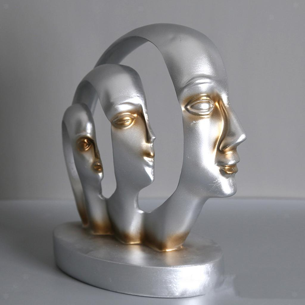 miniatura 5 - Arte Astratta Viso Scultura Statua Ufficio Tavolo In Resina Ornamenti di