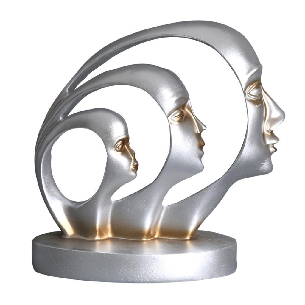 miniatura 7 - Arte Astratta Viso Scultura Statua Ufficio Tavolo In Resina Ornamenti di