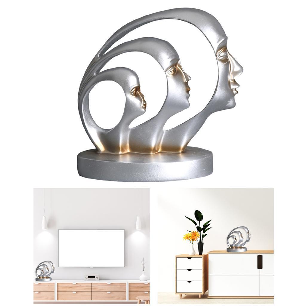 miniatura 13 - Arte Astratta Viso Scultura Statua Ufficio Tavolo In Resina Ornamenti di