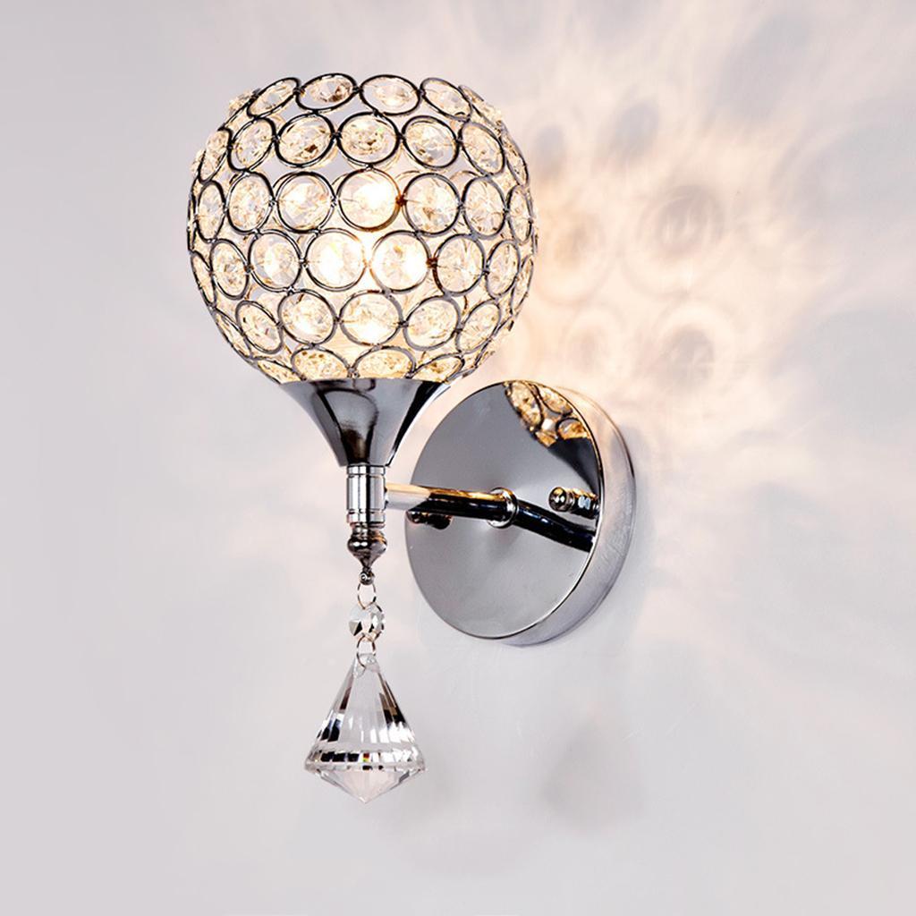 Chic Crystal Wandlampe Leseleuchte E27 Sockel Indoor Study Decor
