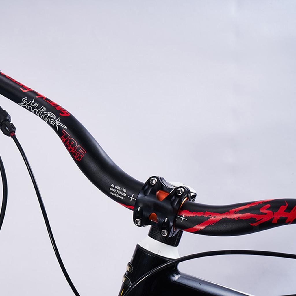 Handlebar MTB oversize aluminium 780 mm 10 degrees Black