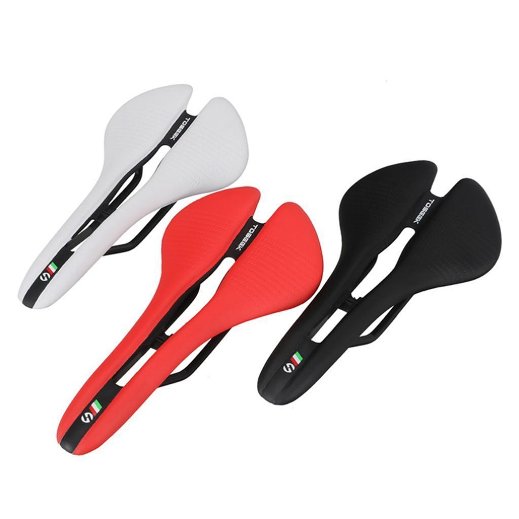 U Toseek Road bike//MTB Bicycle saddle EVA microfiber Leather comfortable cushion
