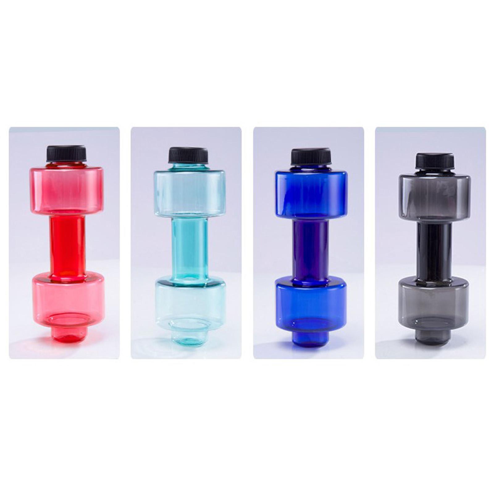 Wasser Flasche BPA FREI Hantel Form Nachfüllbar Barbell für Fitness Übung