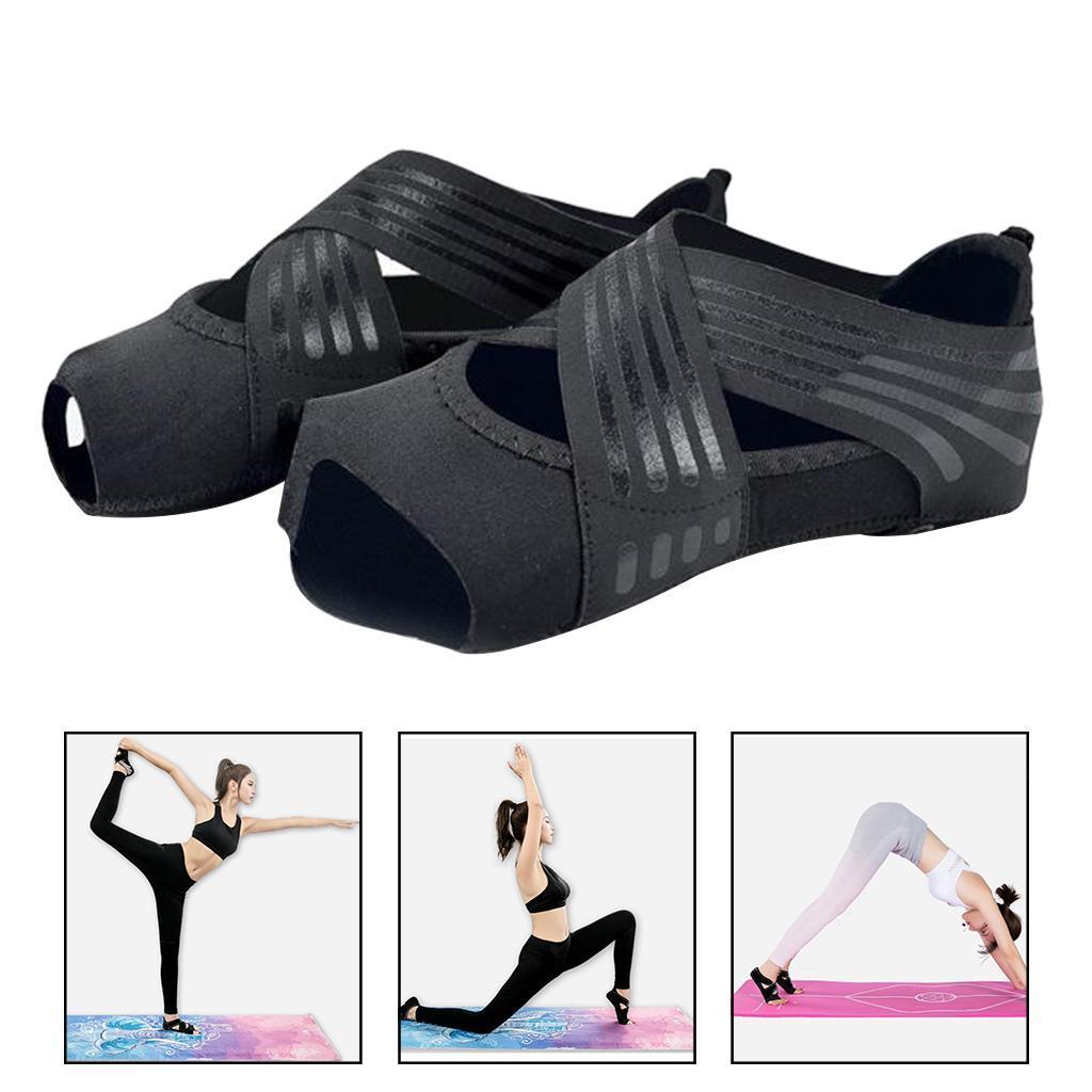 miniatura 64 - 1 Pair Delle Donne di Ballo di Formazione di Yoga Pilates Grip Calzini