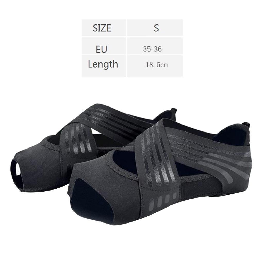 miniatura 67 - 1 Pair Delle Donne di Ballo di Formazione di Yoga Pilates Grip Calzini