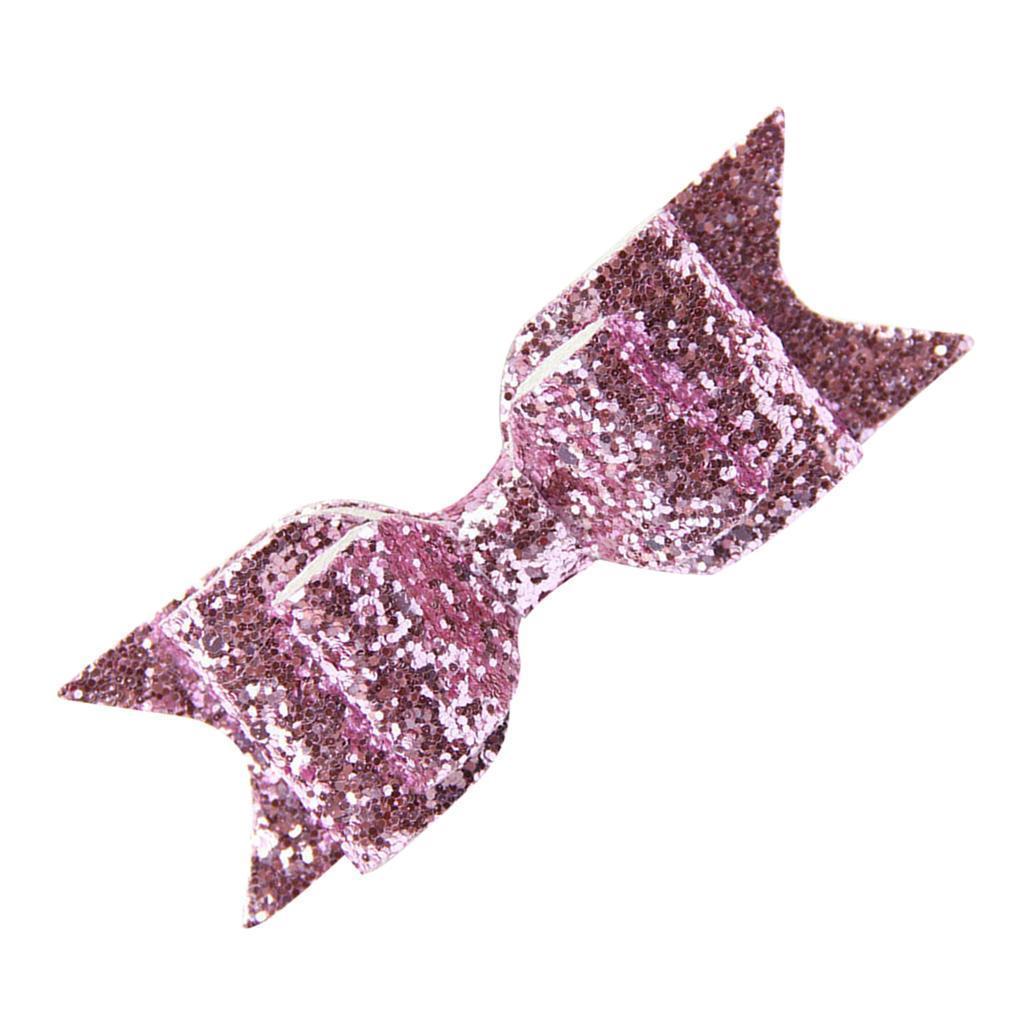 miniatura 8 - Ragazza Donna Capelli Clip Bow Glitter Cappelli Accessori - Multi Colori