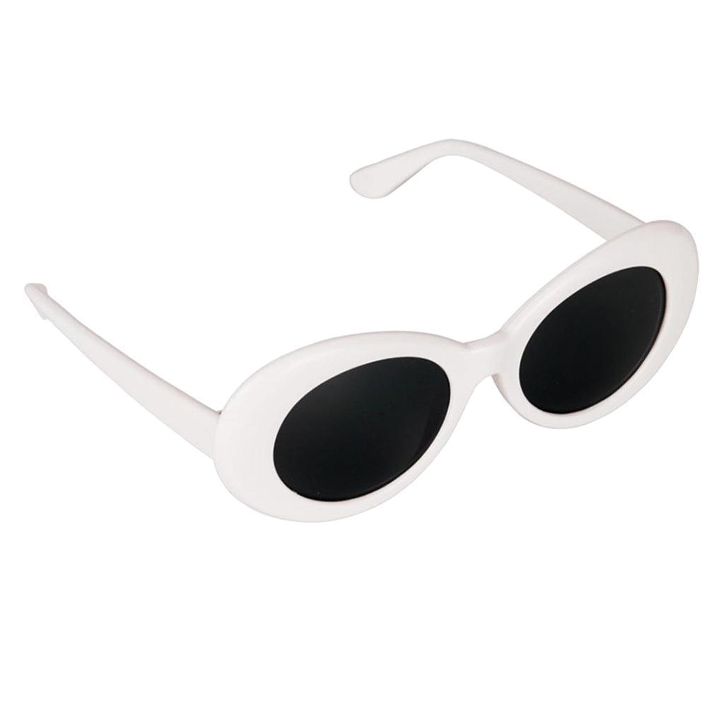 thumbnail 4 - Retro-Kurt-Cobain-Glasses-Clout-Goggles-Sunglasses-Oval-Bold-Mod-Thick-Frame