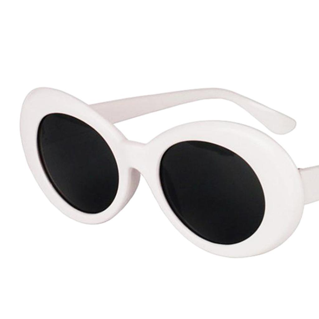 thumbnail 3 - Retro-Kurt-Cobain-Glasses-Clout-Goggles-Sunglasses-Oval-Bold-Mod-Thick-Frame