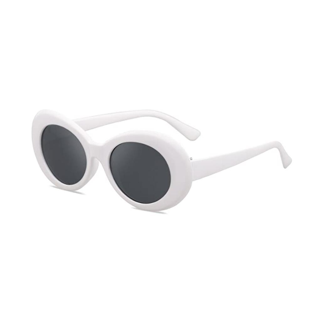 thumbnail 3 - Novelty-Oval-Mod-Thick-Sunglasses-Clout-Goggles-Sun-Protection-Unisex