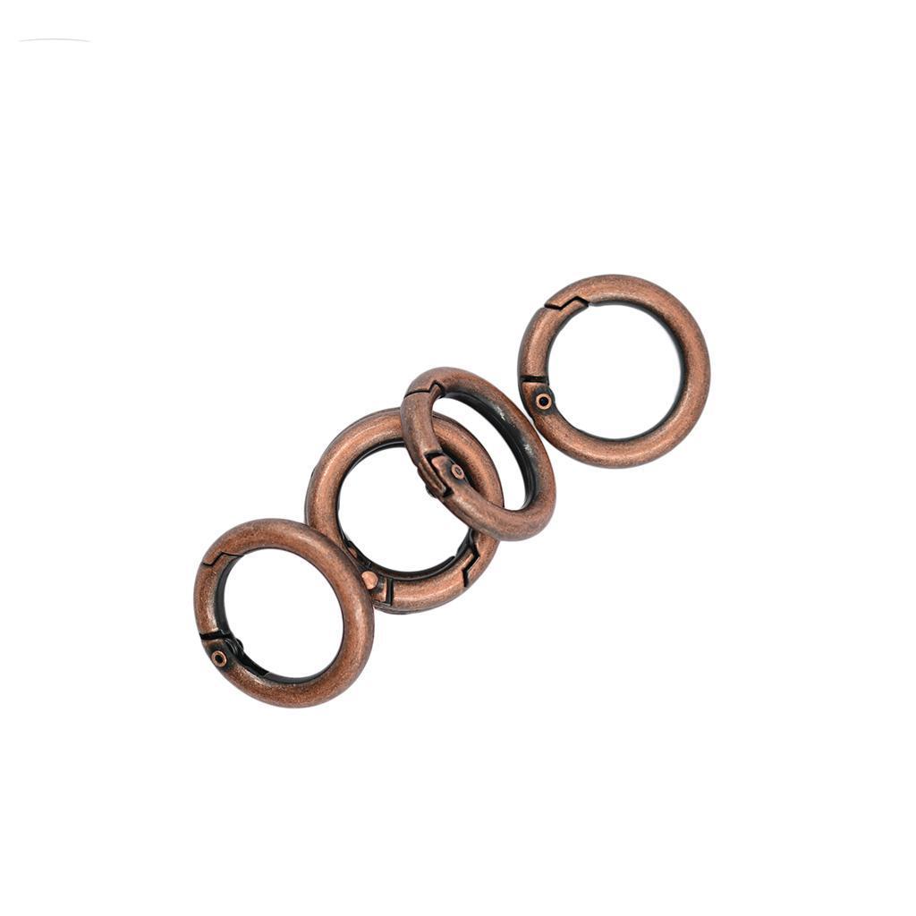 "6pcs 1/"" Snap Clip Hook Round Circle Carabiner Keychain Camping Silver"