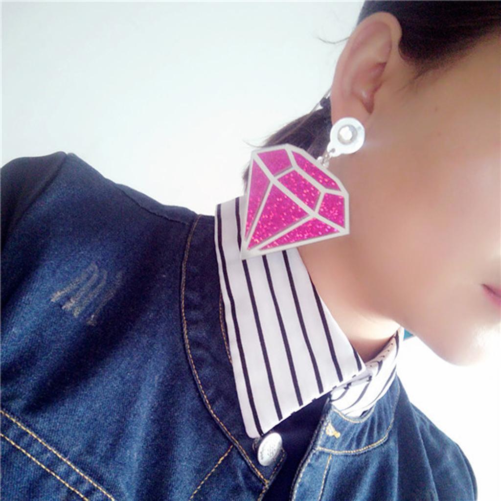 Punk-Boho-Large-Diamond-Shape-Earrings-Acrylic-Ear-Studs-Women-Fashion-Jewelry thumbnail 7