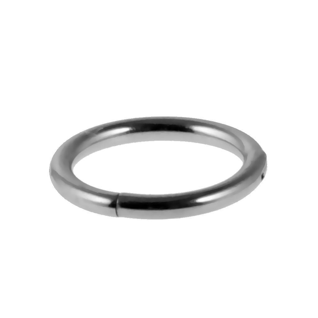 Stainless-Steel-14g-16g-Hinged-Clicker-Septum-Segment-Hoop-Ring-Ear-Lip-Nose thumbnail 3