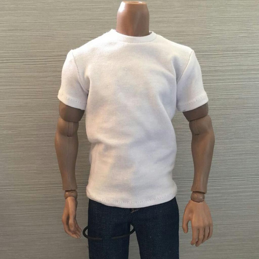 """Échelle 1//6//courte à manches longues T-shirts Top 12/"""" figure masculine vêtements accessoires"""