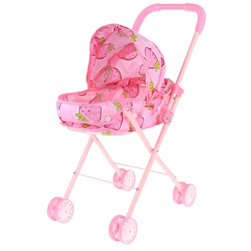 Foldable-Simulation-Pushchair-Stroller-Buggy-Pram-Pretend-Parent-Kids-Role-Play miniature 6