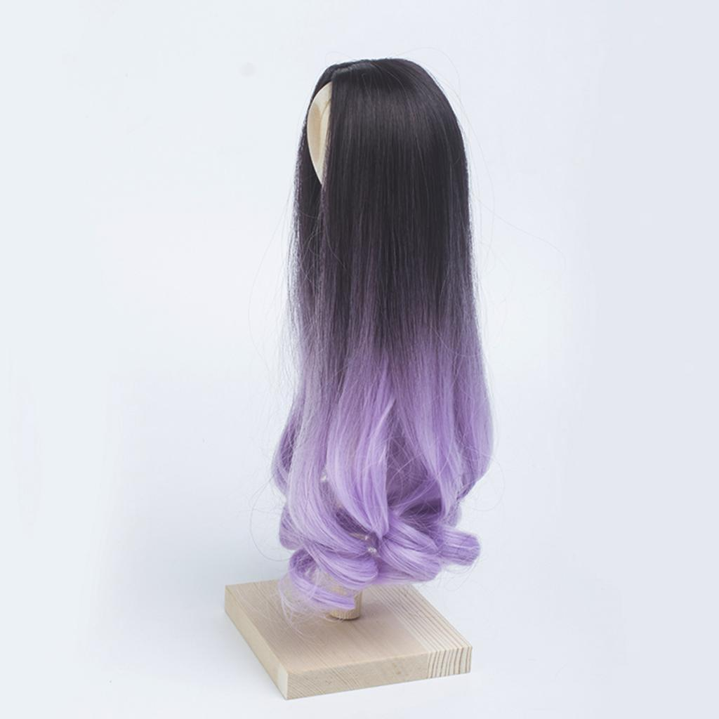 Long-Curly-Wig-30cm-for-Night-Lolita-for-Dollfie-for-MSD-1-3-1-4-BJD-Doll thumbnail 6
