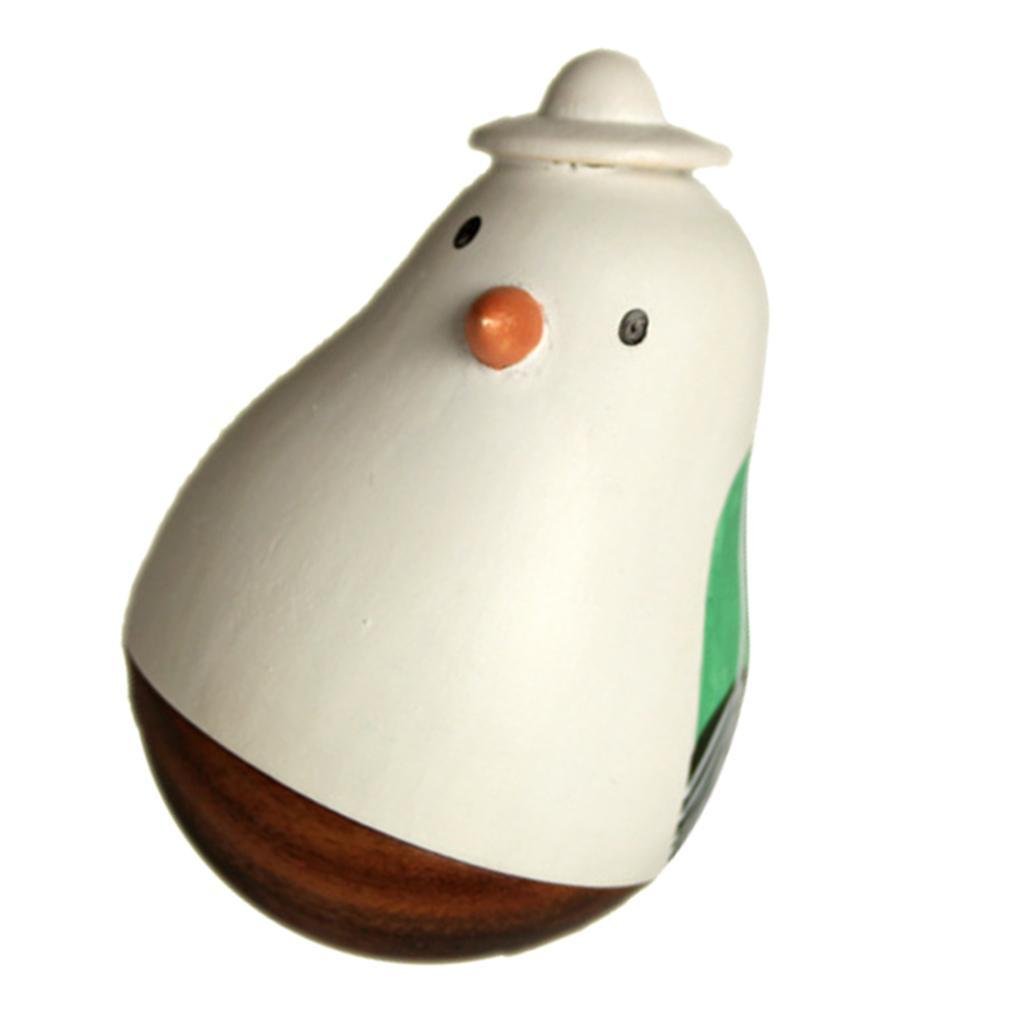 Wooden-Tumbler-Craft-Wood-Animal-Figure-Toy-Office-Desk-Decor-Ornament thumbnail 29