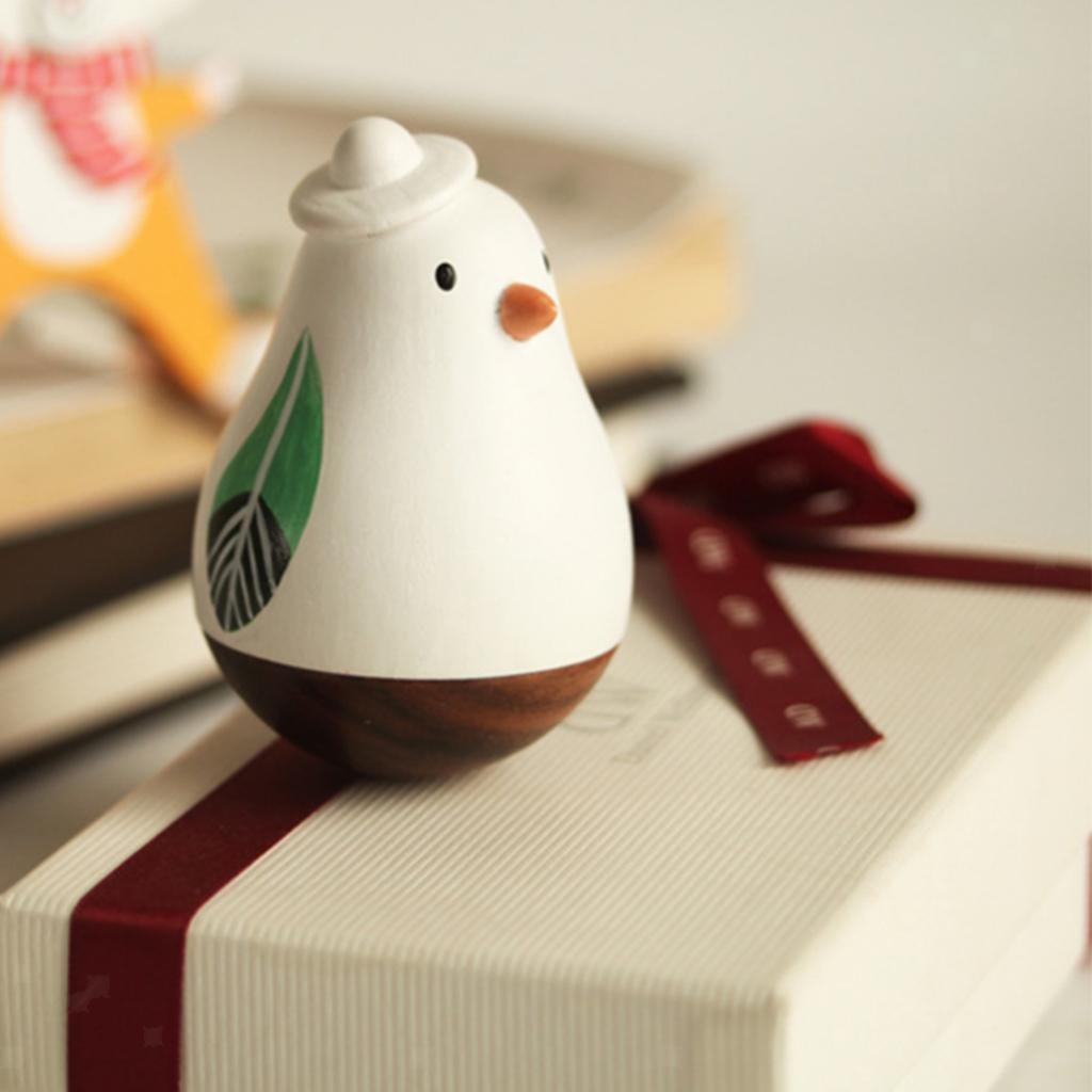 Wooden-Tumbler-Craft-Wood-Animal-Figure-Toy-Office-Desk-Decor-Ornament thumbnail 30