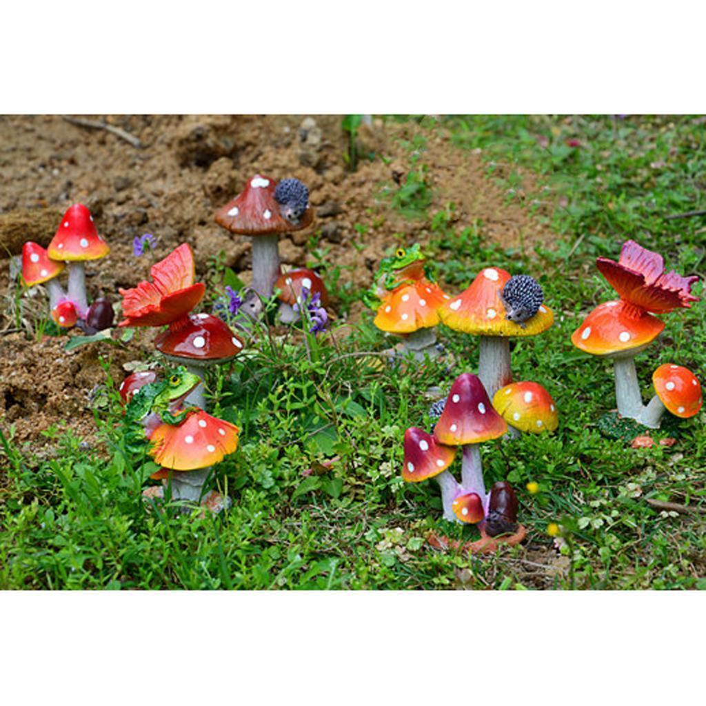 Mushroom House Mini Landscape Miniature Ornament Fairy Garden Wedding Decor