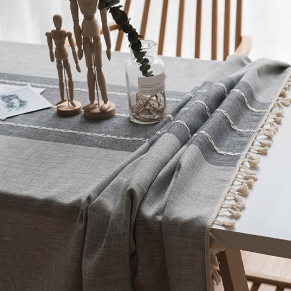Home-Tablecloth-Table-Cover-for-Kitchen-Dinning-Room-Tabletop-Decoration miniature 21
