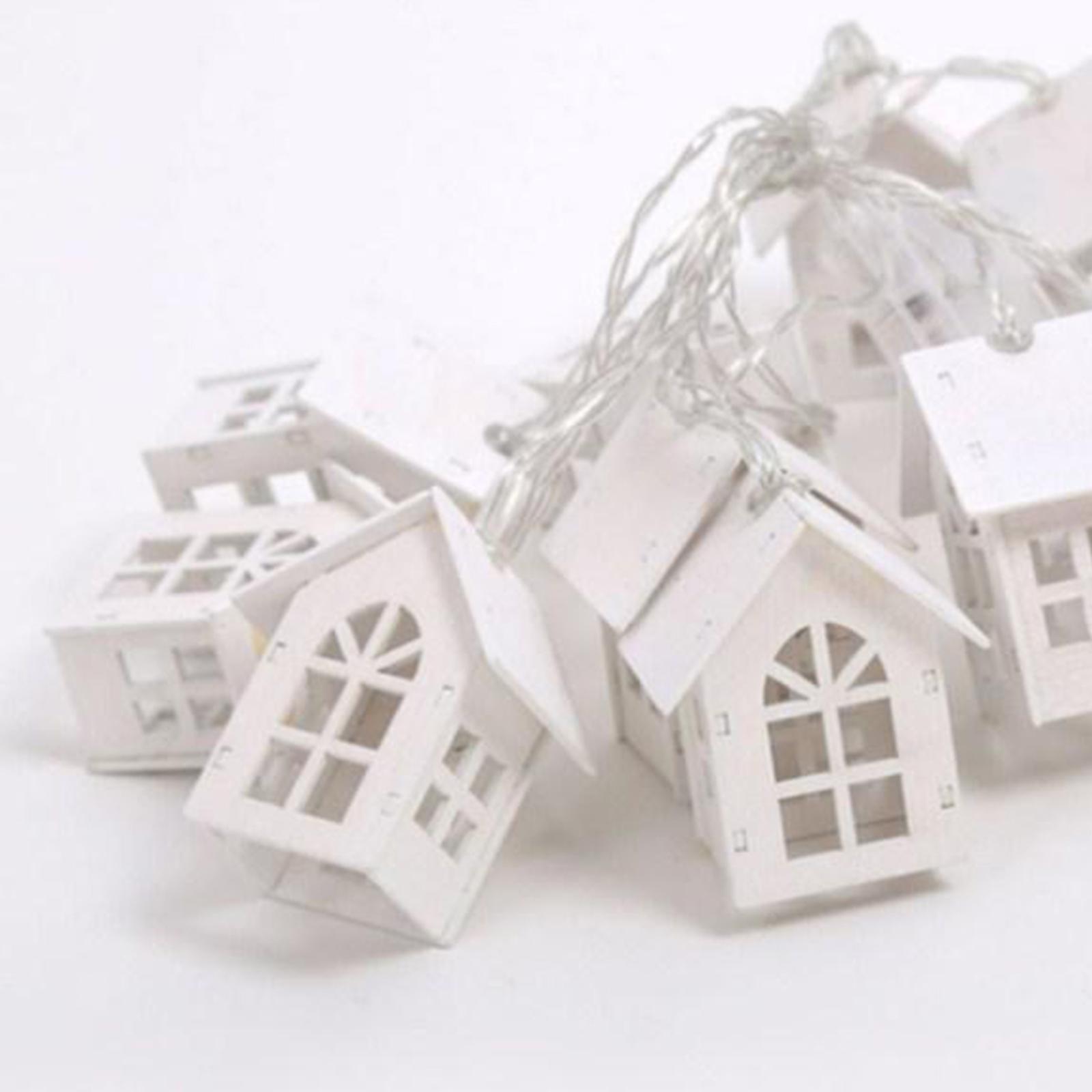 miniature 14 - 10 LED Rideau Guirlandes 6.6ft Fée Lumière de Corde De Noël Toile de Fond Dé