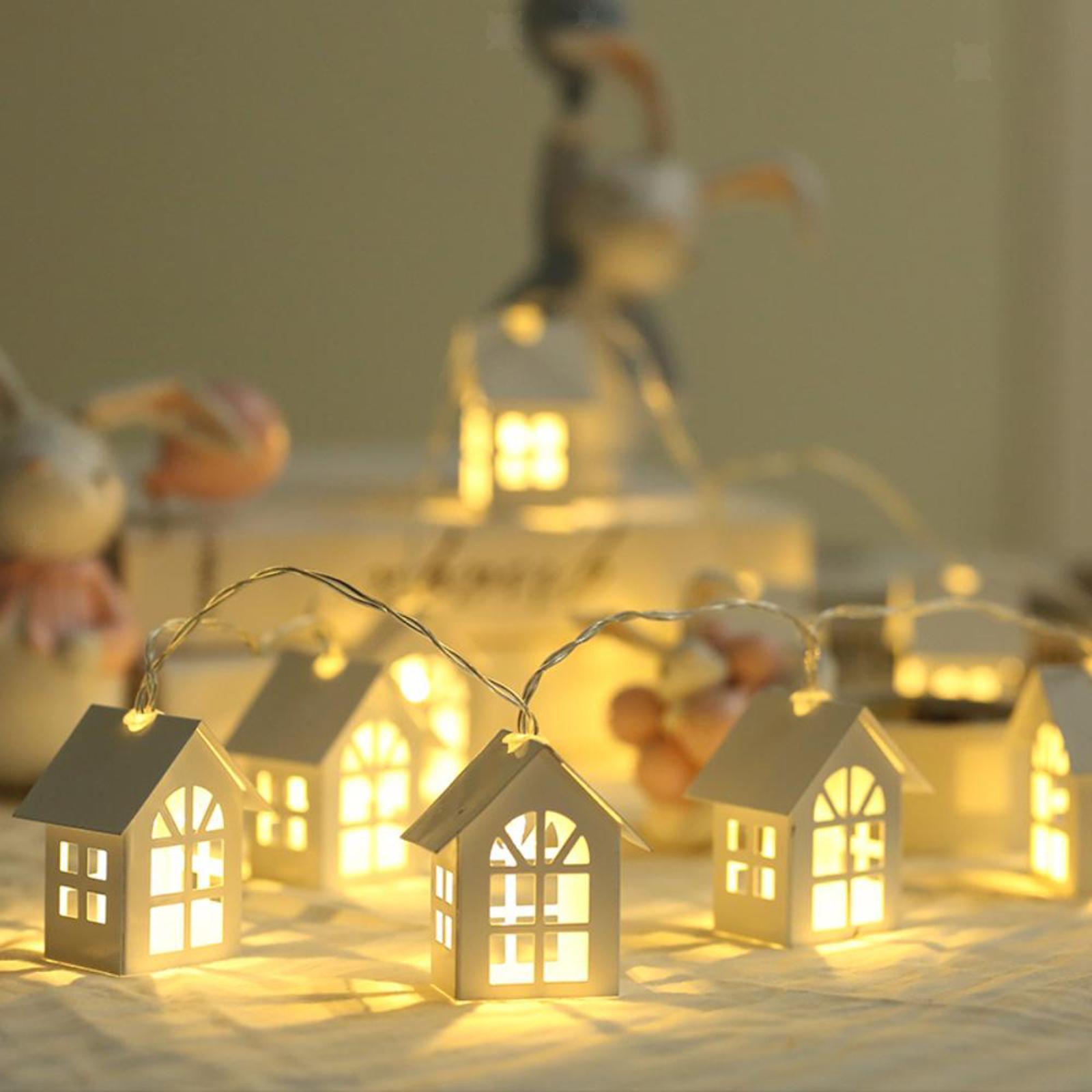 miniature 18 - 10 LED Rideau Guirlandes 6.6ft Fée Lumière de Corde De Noël Toile de Fond Dé