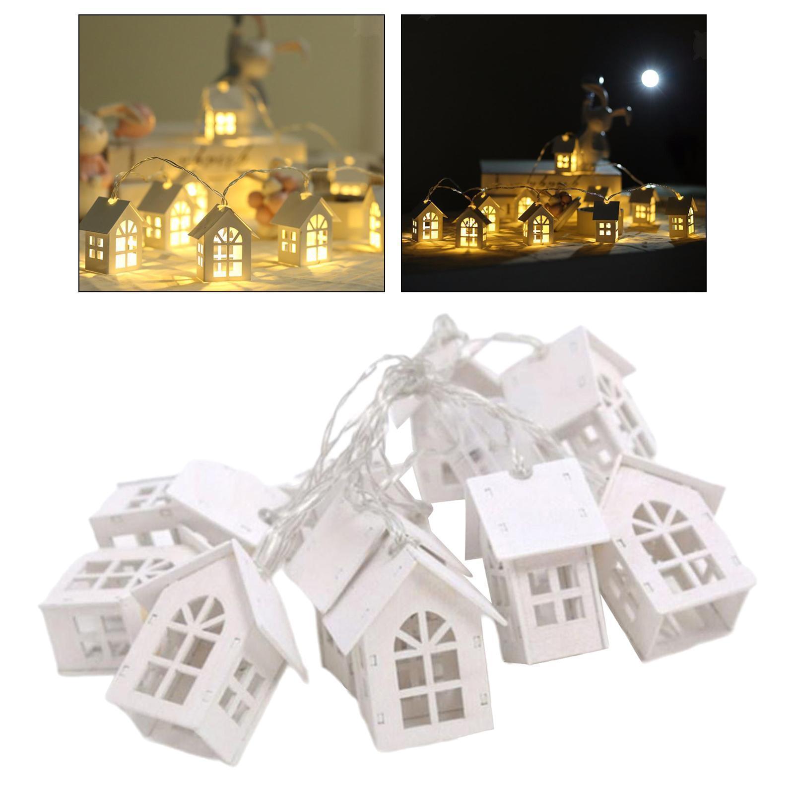 miniature 19 - 10 LED Rideau Guirlandes 6.6ft Fée Lumière de Corde De Noël Toile de Fond Dé