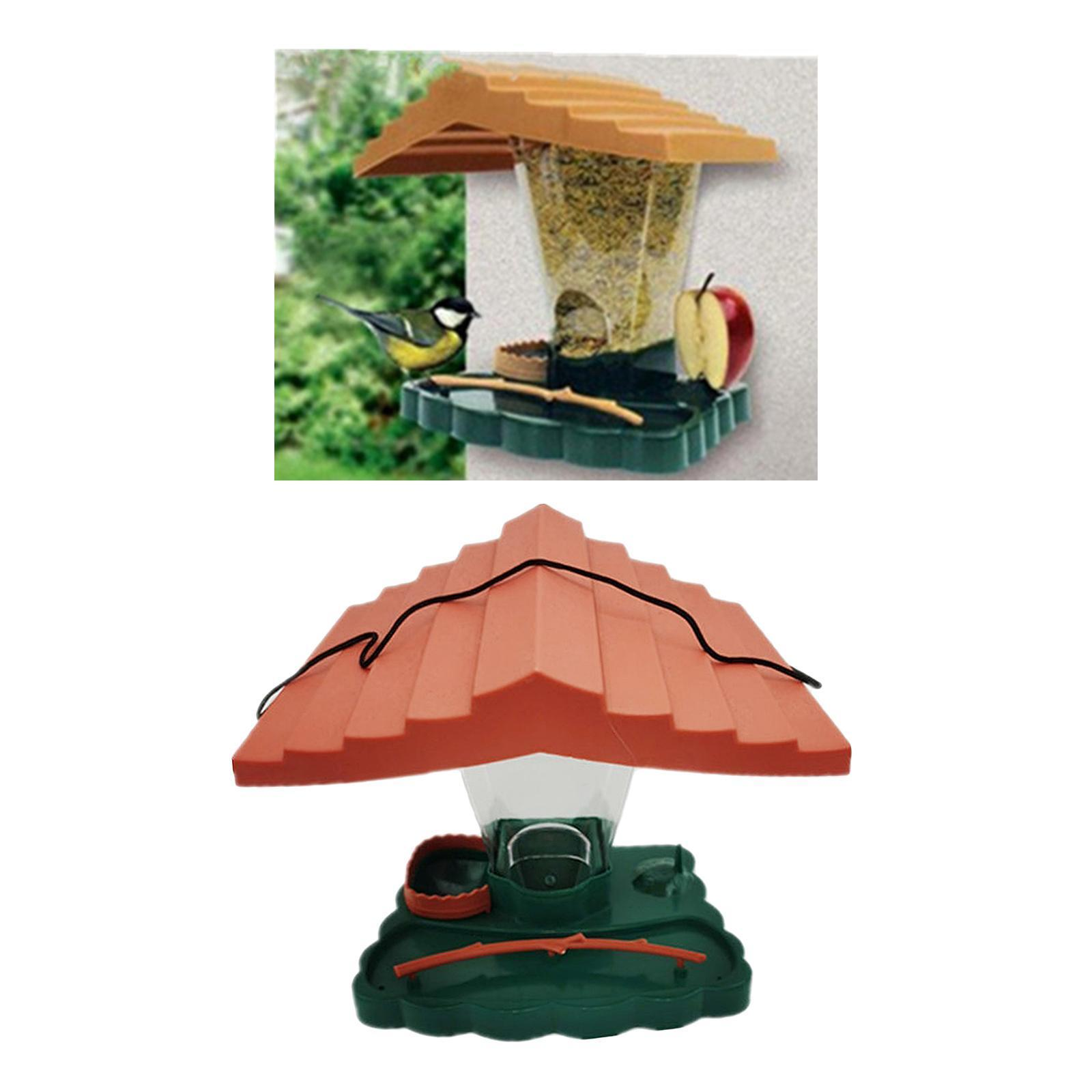 thumbnail 2 - Prime Suspendus Mangeoire pour les Oiseaux Sauvages pour Jardin Cour