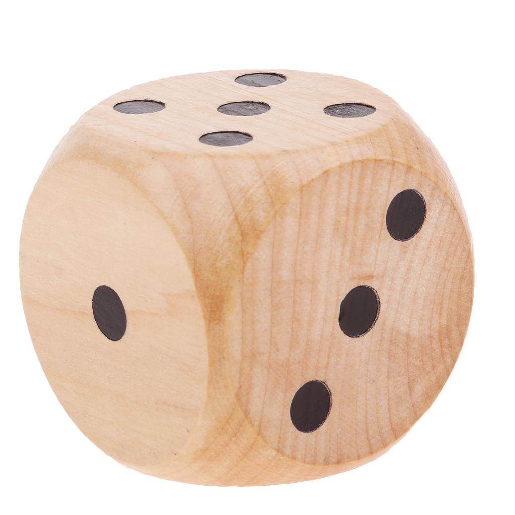 Creative-Wooden-D6-Six-Sided-Dice-Role-Playing-for-DND-Casino-Supplies thumbnail 9