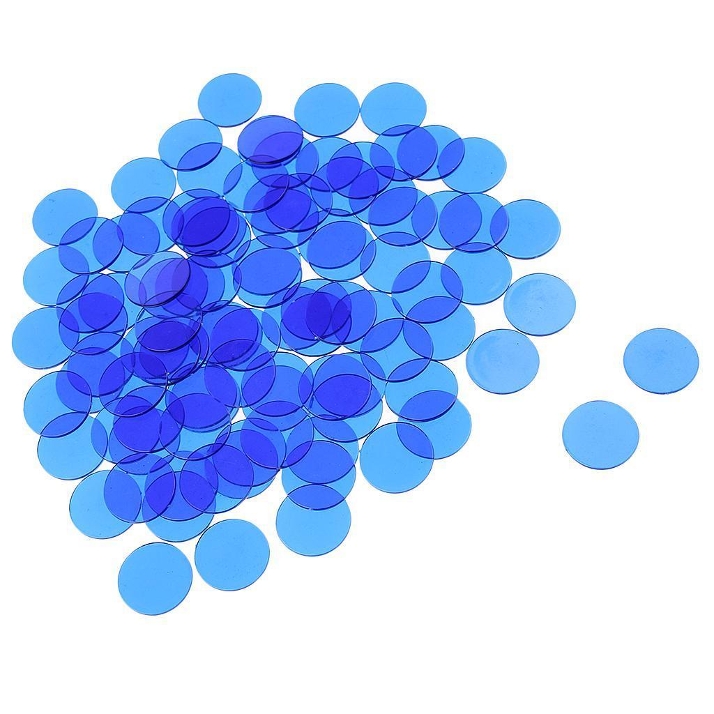 100-Stueck-Kunststoff-Zaehler-Chips-Bingo-Marker-Fuer-Mathematik-Oder-Spiele Indexbild 10