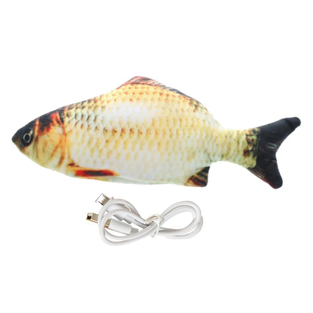 Indexbild 9 - Elektrische Simulation Fisch Haustier Katze Spielzeug Kinder Spielzeug USB Lade