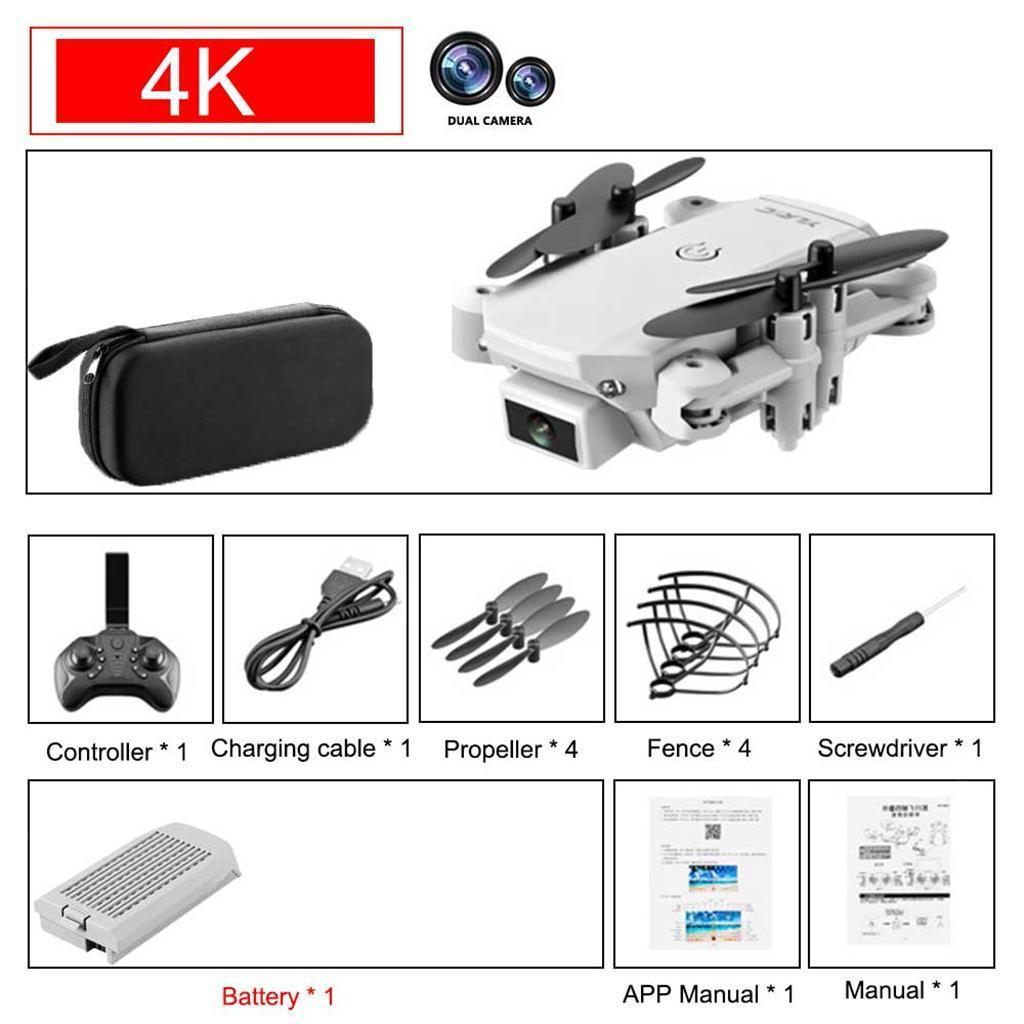 RC-Quadcopter-Drohne-HD-Kamera-Selfie-2MP-4K-WiFi-FPV-Faltbare-fuer-Kinder Indexbild 16