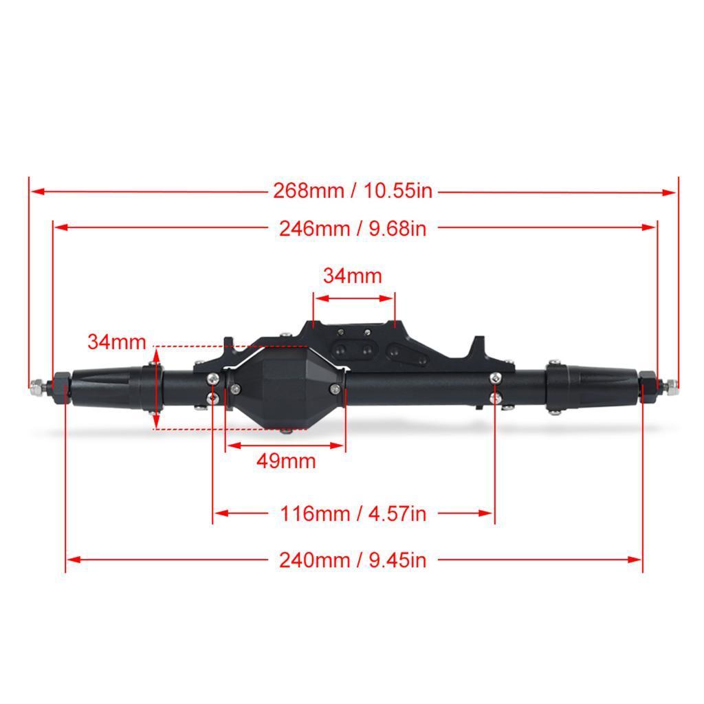Assale-anteriore-posteriore-in-lega-di-alluminio-1-10-RC-Crawler-per-Axial miniatura 9