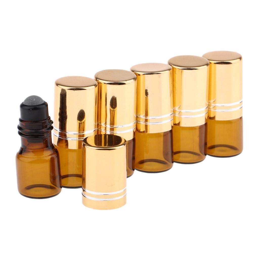 6-Stueck-Glas-Miniflaschen-Roller-Flaschen-Glasflaschen-Perfumflaschen-Set Indexbild 7