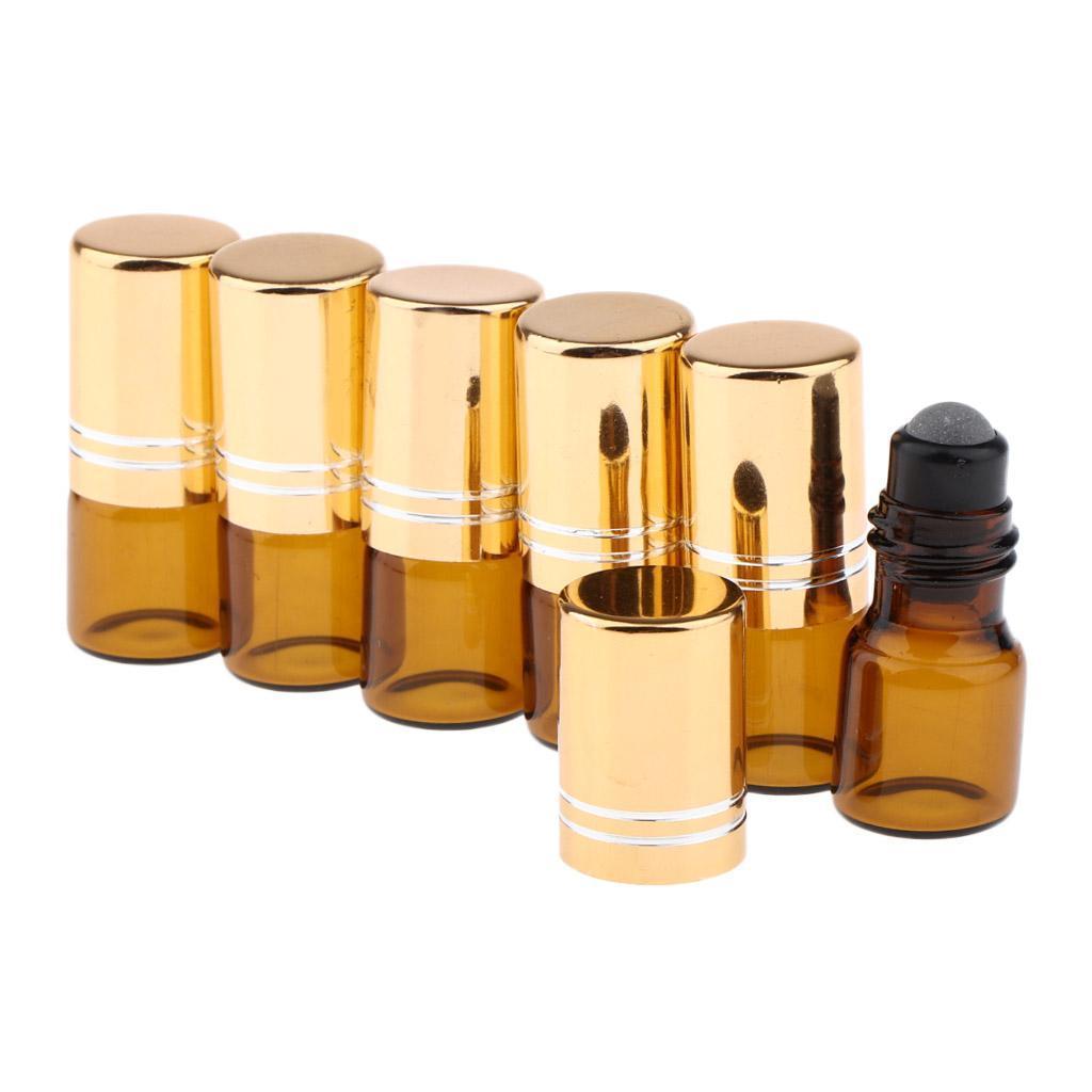 6-Stueck-Glas-Miniflaschen-Roller-Flaschen-Glasflaschen-Perfumflaschen-Set Indexbild 6